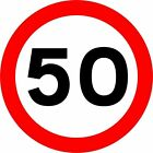 50 mph kph speed sign street Road Health & Safety sign Square