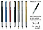 PERSONALISED ENGRAVED PARKER VECTOR FOUNTAIN PEN BLACK , BLUE , RED ,SILVER,GOLD