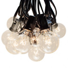 G40 Clear Outdoor Patio Globe String Lights (100', 50' and 25' Lengths)