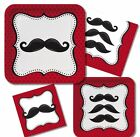 Moustache party range plates napkins cups cookie cutter use for Movember FREE PP
