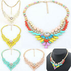 Fabulous wild Statement Necklace Chunky Bib Geometric Pendant Gem Chain Collar