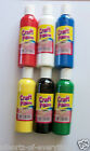 Craft Ready Mixed Poster Paints 3 or 4 200ml Black Red White Blue Green Yellow