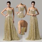 Fabulous Sequins Sexy Wedding Banquet Evening Bridesmaid Formal Party Gown Dress