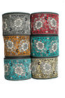 """3 Yd Jacquard Trim 3"""" wide Woven Border Sew Embroidered Ribbon Lace T920"""