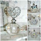 SHABBY CHIC GLASS PERFUME BOTTLE FRENCH VINTAGE STYLE ART DECO TRADITIONAL