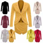 Womens Ladies Long Sleeves One Button Blazer and Skort Skirt Set Size 8 to 14