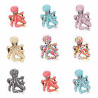Fashion Octopus Design Colorful Clear Crystal Rhinestone Stretchy Ring 7 Colors