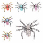 Gorgeous Fashion Spider Design Glaring Crystal Rhinestone Stretchy Ring 6 Colors