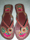 New Ladies Multi-coloured Indian Sandal / Khussa