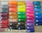 LOOM BANDS 1 packet 600 bands/clips/hook    CHOICE 41 COLOURS   LoomAstic Bands