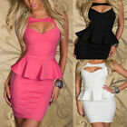Hot! Womens Sexy Celeb Slim Flouncing Hollow Halter Cocktail Club Party Dress