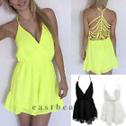 Womens Spaghetti Backless Sexy V Neck Jumpsuits Rompers party Clubwear Min Dress