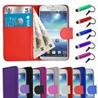 Flip Wallet PU Leather Case for Samsung Galaxy S5 I9600 Free Protector & Stylus