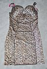 Maidenform Pure Inspirations SHAPER SLIP DRESS Leopard sexy 36B 38B Pushup 351