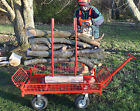 HEAVY DUTY GARDEN CART LOGGING TROLLEY TRAILER SAW HORSE BARROW ALL TERAIN TRUCK