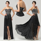 Sparkling Sequins Long Evening Dress Cocktail Formal Party Wedding Prom Gown BLK