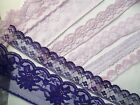 Lilac or Purple Flat Lace Various  pattern and widths   - choose