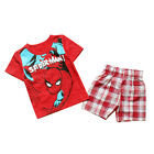 Kids Baby Boys Spiderman Styles Pajamas Short Sleeve 2 PCS Set Size 1-7 Years