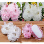 HOT Infant Newborn Baby Girls Princess Non-Slip Lace Flower Shoes Toddler New