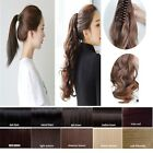 pretty lady Clips In Claw Ponytail long Pony Tail Hairpiece hair extensions wm