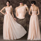 Apricot Long Formal Cocktail Party Wedding Evening Prom Homecoming Maxi Dresses