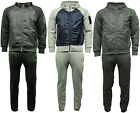 Mens Plain Zipped Shell Panel Tracksuit Hoodie & Joggers - B36