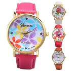 New Fashion Womens Watches GENEVA Quartz Wristwatch Flower Face Lady Dress Watch