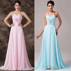 New Formal Ball Prom Wedding Evening Bridesmaid Cocktail Long Gown Chiffon Dress
