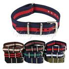 18mm/20mm Durable Military Nylon Wrist Watch Band Strap 260mm Fit All Watches US