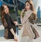 Fashion Women's OL/Casual Chiffon Suit Blazer Leopard Lapel Outwear Coat Jacket