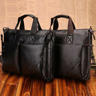 LON FAST NWT Office Men Real Cow Leather Messenger Shoulder Briefcase Laptop BAG