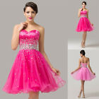 HOT Mini Homecoming Quinceanera Wedding Dance Cocktail Party Prom Evening Dress