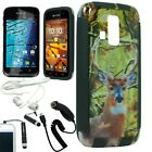 BROWN DEER HUNTING CAMO SLIM HYBRID FITTED SNAP ON HARD CASE KYOCERA HYDRO LIFE