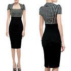 WOMENS VINTAGE ROCKABILLY 1950'S PIN UP OFFICE WIGGLE PENCIL DRESS