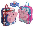 Peppa Pig Kids Rucksack Backpack School Bag Pink Blue