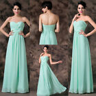 FREE SHIP Sweetheart Long Cocktail Bridesmaid Prom Party Evening Dresses Lace-up