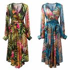 Vintage Floral Women's Boho Long Maxi Long Dress Beach Chiffon Dress Bodycon