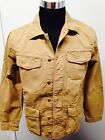 Lucky Brand Jeans USA Men's Military 100% cotton Pure Linen Jacket $149 Tan S