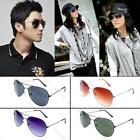 Fashion Unisex Women Mens Trendy Vintage Aviator Lens Mirrors Glasses Sunglasses