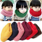 New Fashion Unisex Baby Boy Girls Warm Winter Cute Knit Scarf Wrap Neckerchief