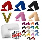 V SHAPED PILLOW CASE COVER PREGNANCY NURSING MATERNITY ORTHOPAEDIC SUPPORT