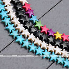 "Howlite Turquoise Side Ways Star Loose Spacer Charm Gemstone Beads 15.5"" 1Strand"