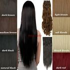 8 Piece Wefted Full Head Clip In Hair Extensions 145g 18Clips Real As Human mm
