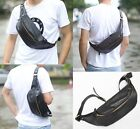 Men's Pu Leather Casual Backpack Waist Bag Messenger Shoulder Sling Chest Bag