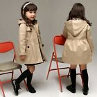 New Kids Girls Classic Wind Coats Double-Breasted Outwear Jacket Peacoat 2T-6T