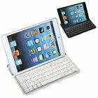 Ultra Slim Silver Wireless Bluetooth Aluminum Keyboard Case Cover For iPad Mini