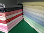 100% COTTON EXTRA WIDE 150cm FABRIC 3mm STRIPES 5mm POLKA DOT SPOTS 18 COLOURS