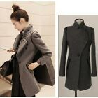 New Women Winter Thick Trench Coat Medium Length Stand Collar Outerwear Jacket