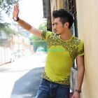 Casual Mens Special Print Short Sleeve T-shirt Basic Tee Slim Fit Top XS - XL