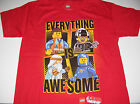 "New Lego Movie shirt boys size XS-XL ""Everything is Awesome!"" Emmet Benny"
